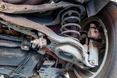 Het wapen, de ringen en de verbindingen van de voertuigcontrole royalty-vrije stock afbeelding
