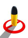 Het wapen van het einde, houdt de oorlog, te doden einde tegen stock illustratie