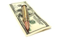 Het wapen van het geld stock foto