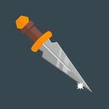 Het wapen vectorillustratie van de messendolk Royalty-vrije Stock Foto's