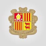 Het Wapenschild van Andorra stock illustratie