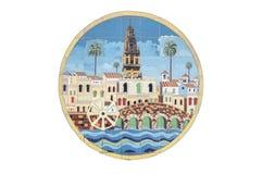 Het Wapenschild van Cordoba over verglaasde tegelsmuur, Spanje royalty-vrije stock foto