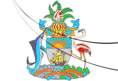 Het Wapenschild van de Bahamas Stock Foto