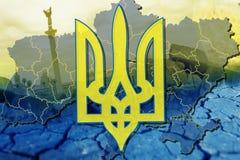 Het Wapenschild van de Oekraïne Stock Fotografie