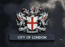 Het wapenschild van Londen Royalty-vrije Stock Afbeeldingen