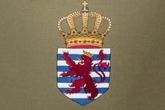 Het Wapenschild van Luxemburg Stock Fotografie