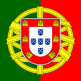 Het wapenschild van Portugal Stock Afbeelding