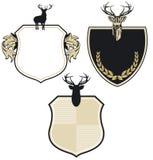 Het wapenschildflard van herten Stock Afbeeldingen