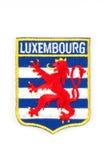 Het wapenschildflard van Luxemburg Stock Foto