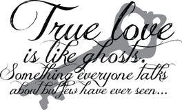 Het ware Citaat van de Liefde met sleutel Royalty-vrije Stock Afbeeldingen
