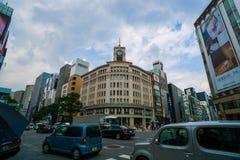 Het Warenhuis van WAKO, Ginza, Tokyo, Japan Stock Foto's