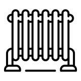 Het warme pictogram van de huisradiator, overzichtsstijl vector illustratie
