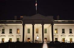 Het Washington DC van het Ave van Pennsylvania van de Nacht van het Witte Huis royalty-vrije stock afbeelding