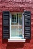 Het Washington DC van het de huizen in de stadvenster van Georgetown stock fotografie