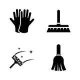 Het wassen het opruimen Eenvoudige Verwante Vectorpictogrammen vector illustratie