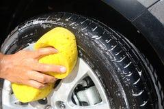 Het wassen van de auto Stock Foto's