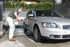 Het wassen van de auto Royalty-vrije Stock Afbeeldingen