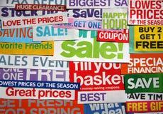 Wat achtergrond van verkoopflapteksten royalty-vrije stock afbeelding