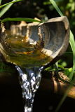 Het water het bamboe wordt doorgenomen dat Stock Afbeeldingen