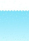 Het water borrelt achtergrond Stock Foto's