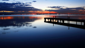 Het water is een spiegel Royalty-vrije Stock Afbeeldingen