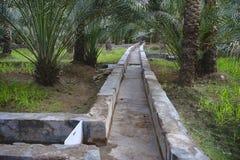 Het water geven systeem in de al Ain oase royalty-vrije stock fotografie