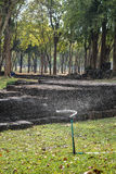 Het water geven van de sproeier gras Royalty-vrije Stock Foto