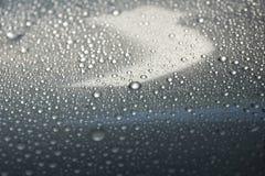 het water laat vallen grijs van de kleurentextuur close-up als achtergrond Royalty-vrije Stock Foto