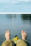 Het water ontspant stock foto's