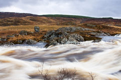 Het water op Rannoch legt vast Stock Afbeeldingen