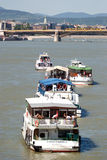 Het water toont, Boedapest, Hongarije Stock Afbeeldingen