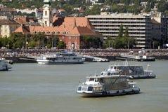 Het water toont, Boedapest, Hongarije Stock Foto's