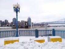 Het water van Cincinnati stock fotografie