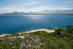 Het water van Corsica (Frankrijk) Stock Afbeelding