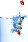 Het Water van de aardbei stock fotografie