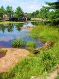 Het water van de dam Stock Afbeeldingen