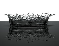 Het water van de plons Stock Foto's