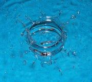 Het water van de plons stock fotografie