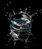Het water van de plons Stock Afbeeldingen
