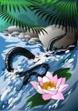 Het water van de slang Stock Fotografie