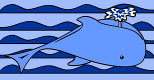 Het Water van de walvis Royalty-vrije Stock Foto