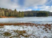 Het water van de winter Stock Afbeeldingen