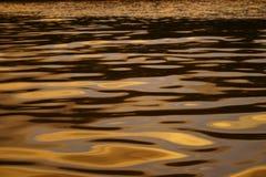 Het water van de zonsondergang Stock Afbeelding