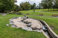 Het water van Derbyshire van het Swadlincotepark en steeneigenschap Royalty-vrije Stock Fotografie