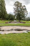 Het water van Derbyshire van het Swadlincotepark en steeneigenschap Royalty-vrije Stock Afbeeldingen