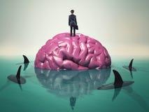 Het water van hersenenhaaien royalty-vrije illustratie