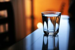 Het water van het glas Stock Fotografie