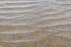 Het water van het rimpelingsstrand Royalty-vrije Stock Afbeeldingen