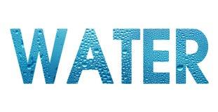 Het Water van Word op witte achtergrond Stock Foto
