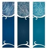 Het water wervelt Banner Vector Illustratie